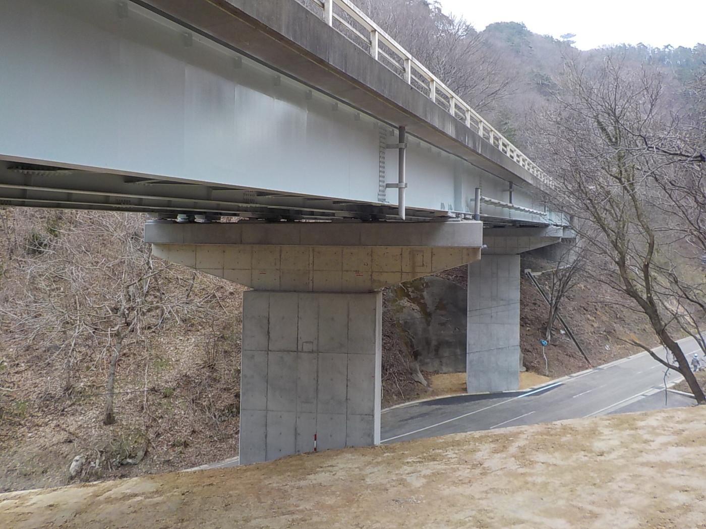 進栄建設-一般国道343号正法寺上の橋橋梁耐震補強工事